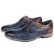 Sapato Masculino Vulcano em Couro Látego Elba Blue/Havana Savelli