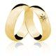 Alianças de Ouro 18k/750 com Diamante AL03