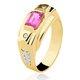 Anel de Formatura em Ouro 18k/750 com Diamante ANFO77