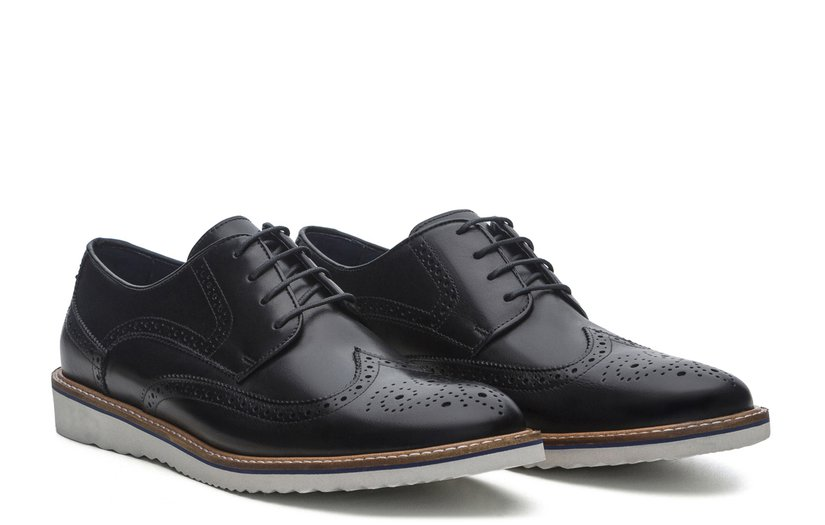 Sapato Masculino Brogue Mike Preto