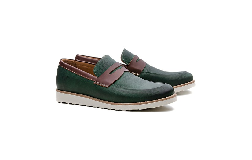 Sapato Casual Loafer 19XD19 Verde