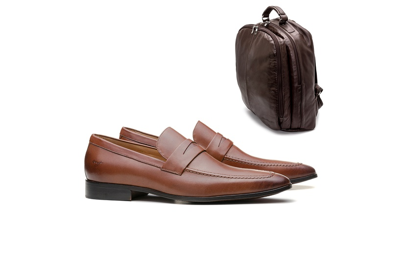 Mocassim Loafer 18NW49 Tabaco