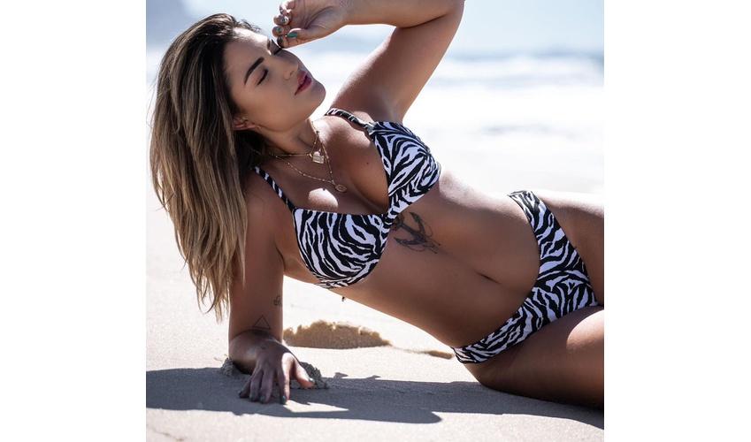 Conjunto Marina Zebra ( Calcinha Dupla Face )