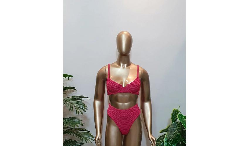 Conjunto Bahamas Com Hot Pants Goiaba ( Mônaco )