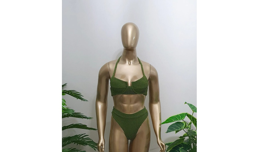 Conjunto Bahamas Com Hot Pants Verde ( Mônaco)