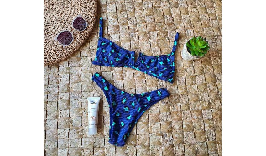 Conjunto Ibiza Oncinha Azul Canelado