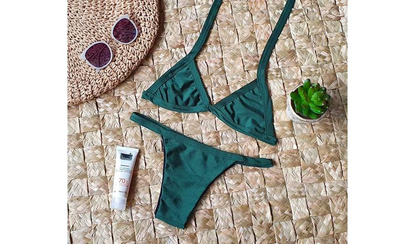 Conjunto Safira Verde Musgo