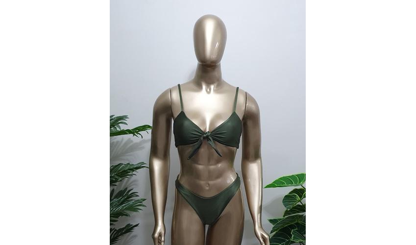 Conjunto Nozinho Verde Musgo ( Trilobal )
