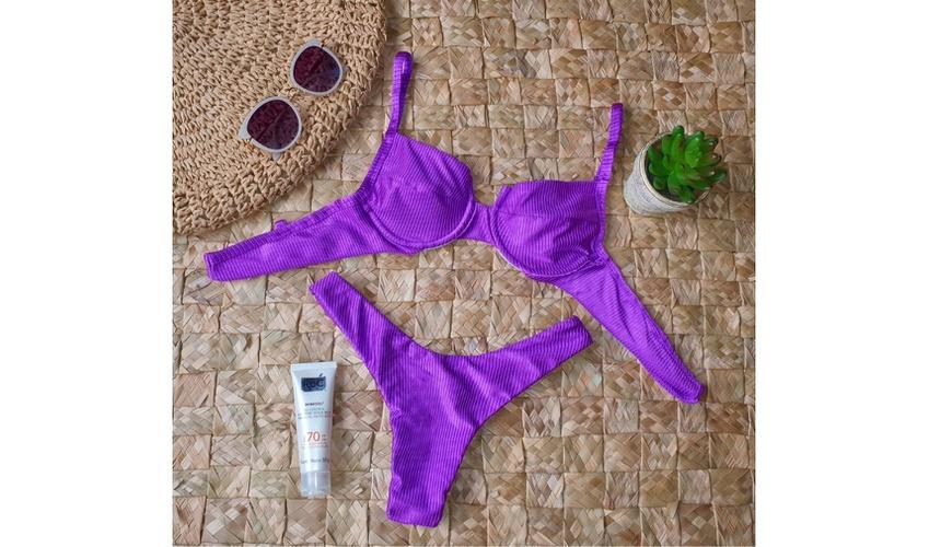 Conjunto Bahamas Violeta ( Canelado)
