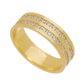 Aliança individual Casamento e Noivado em Ouro 18K de 5,8mm com Zircônias