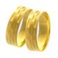 Par De Aliança Casamento De Ouro 18k Com 5mm Trabalhado