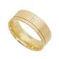 Aliança de Casamento de Ouro 18k com 7,0mm e Zircônias