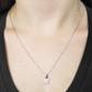 Pingente De Ouro Branco 18k Borboleta Com Diamantes