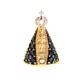Pingente De Ouro 18k Nossa Senhora Da Aparecida Com Pedras De 13mm
