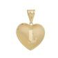Pingente De Ouro 18k Coração Com Letra ( a à z )