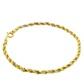 Pulseira De Ouro 18k Corda Bicolor De 3mm Com 19cm