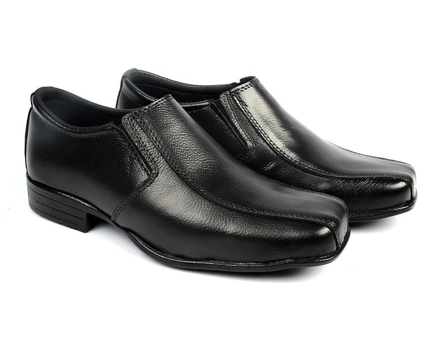 Sapato Social Infantil em Couro com Elásticos