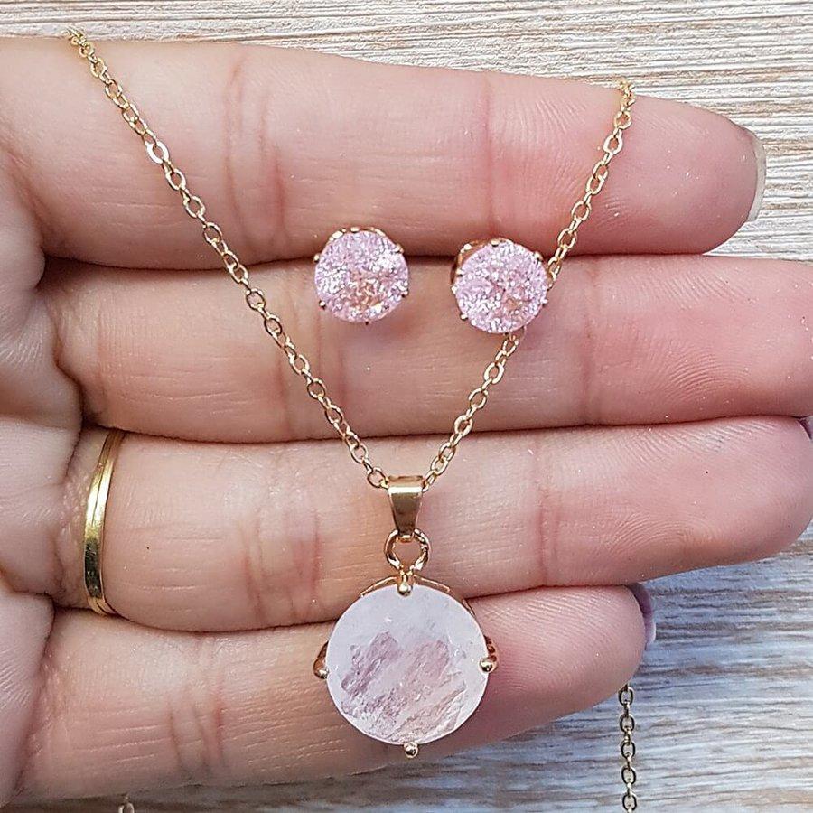 Conjunto Dourado Rosa