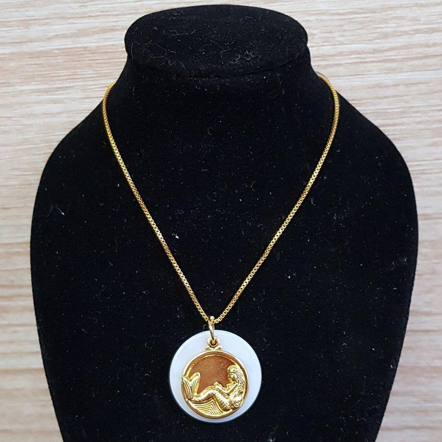 Colar Folheado Dourado Madrepérola Sereia