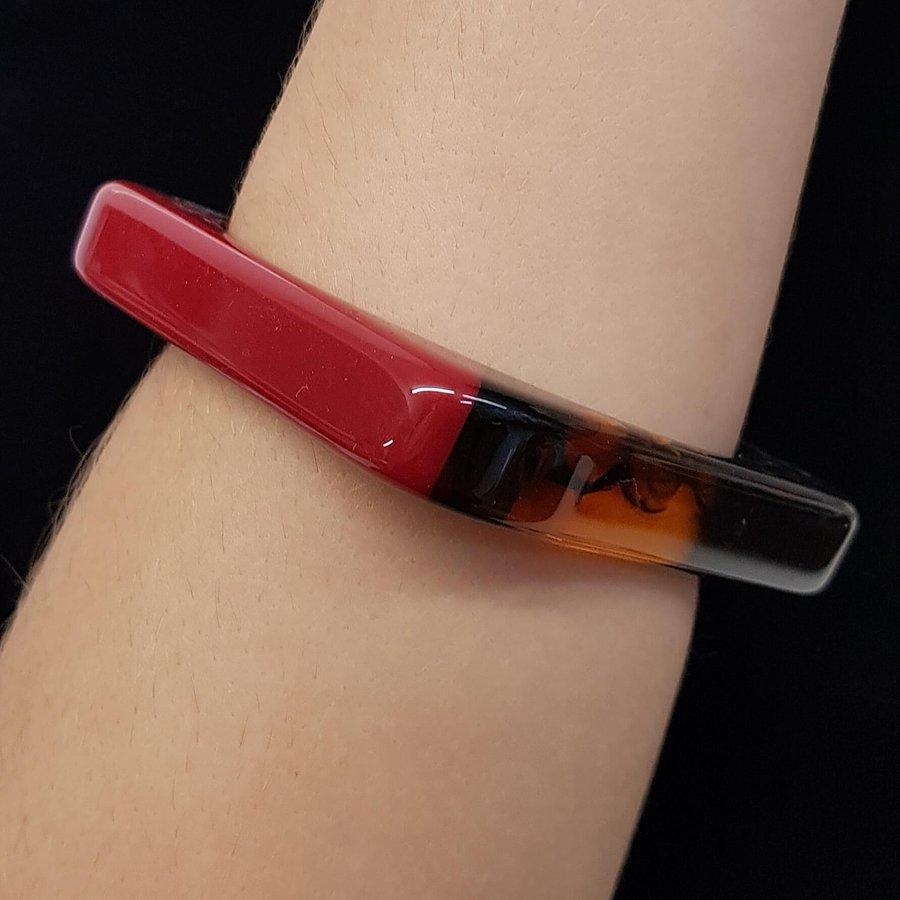 Bracelete Acrílico Moisaico Vermelho