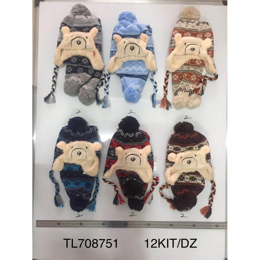 Touca Infantil Pacote com 12 peças