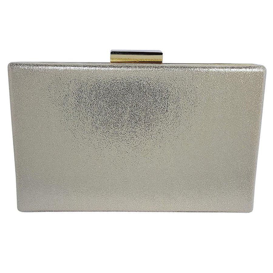 Bolsa Clutch Glitter Dourado Escuro