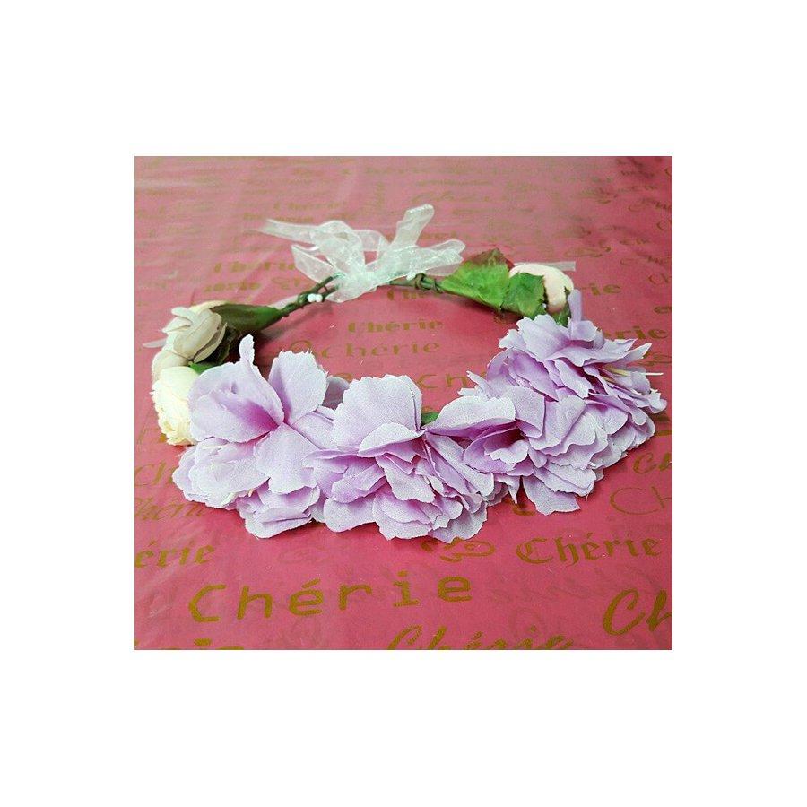 Coroa De Flores Violeta