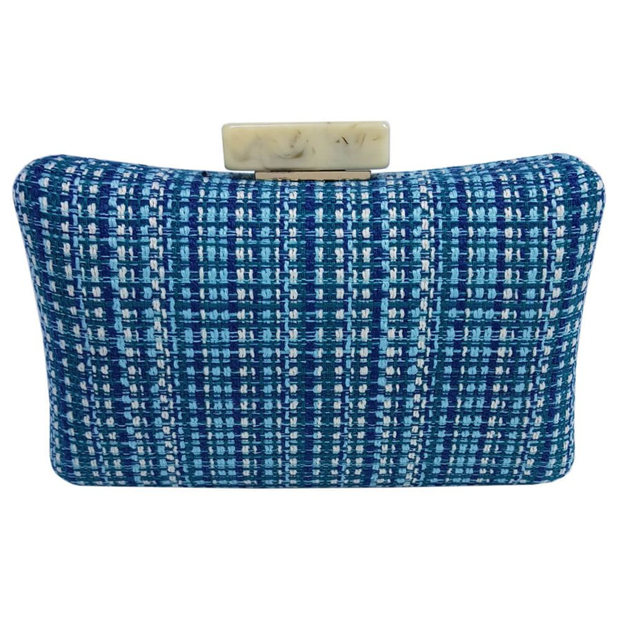 Bolsa Clutch Palha Azul