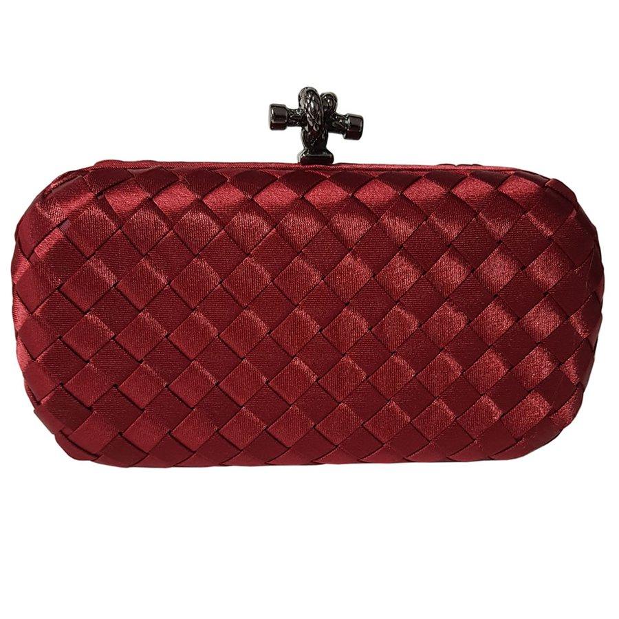 Bolsa Clutch Trançada Vermelha