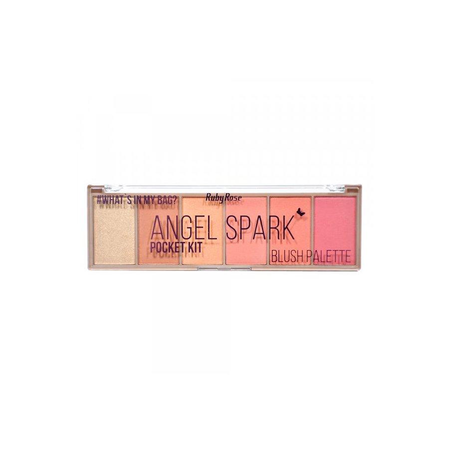 Paleta de Blush Pocket Angel Spark Ruby Rose *