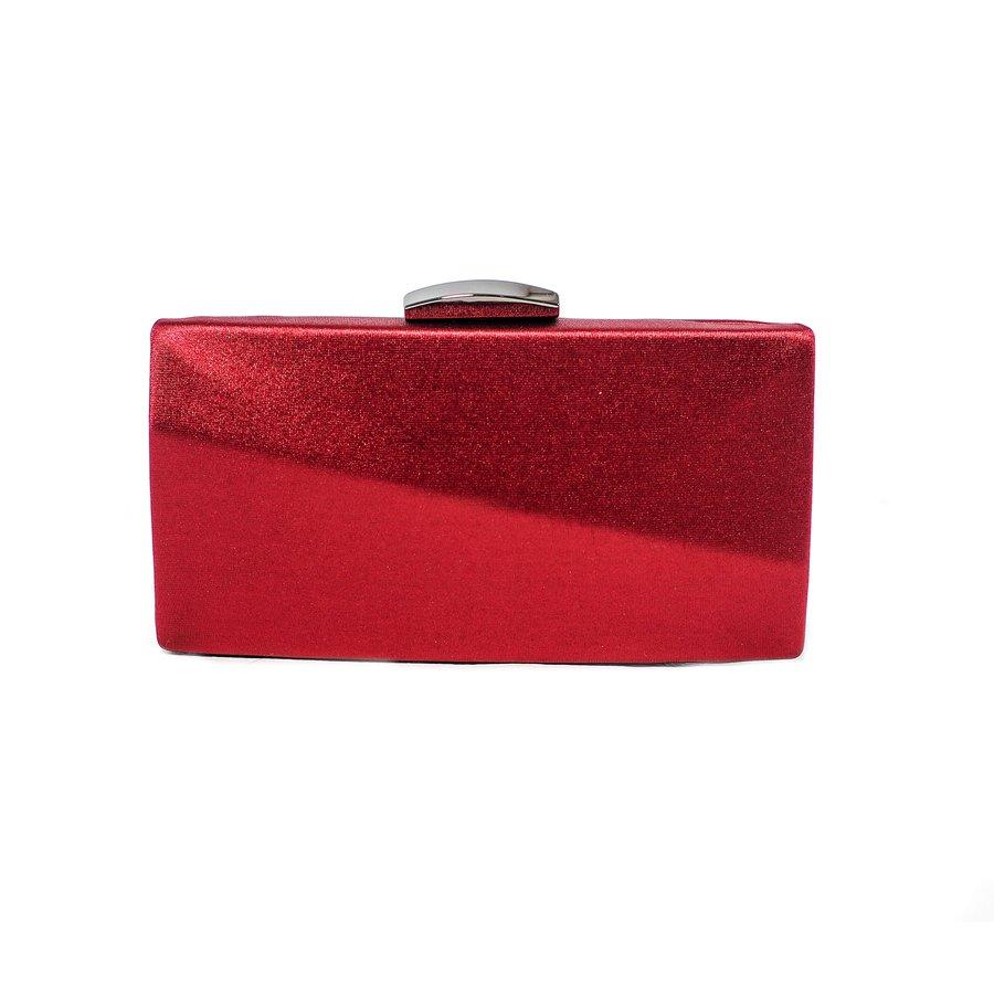 Bolsa Clutch Geométrica Vermelha