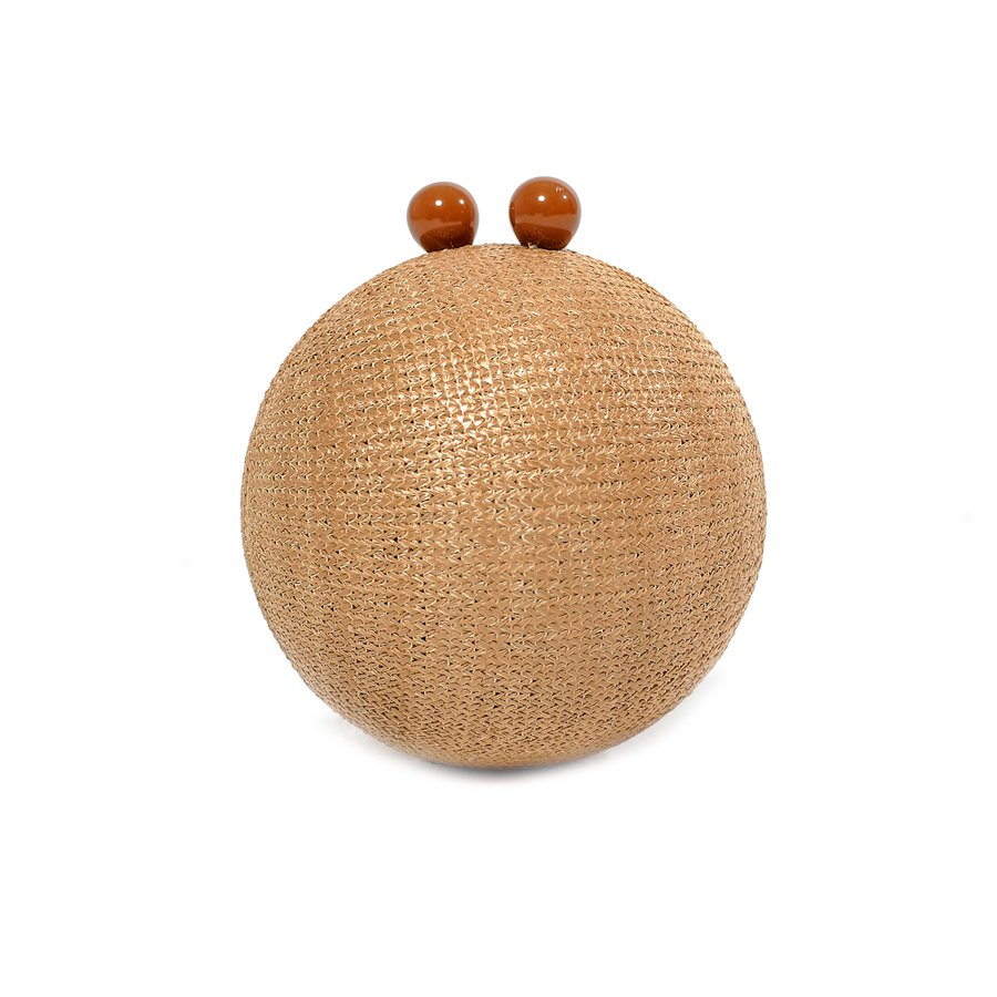 Bolsa Clutch Esfera Palha Bege