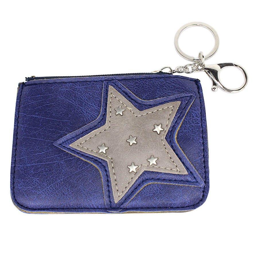 Chaveiro Porta Moeda Estrela Azul