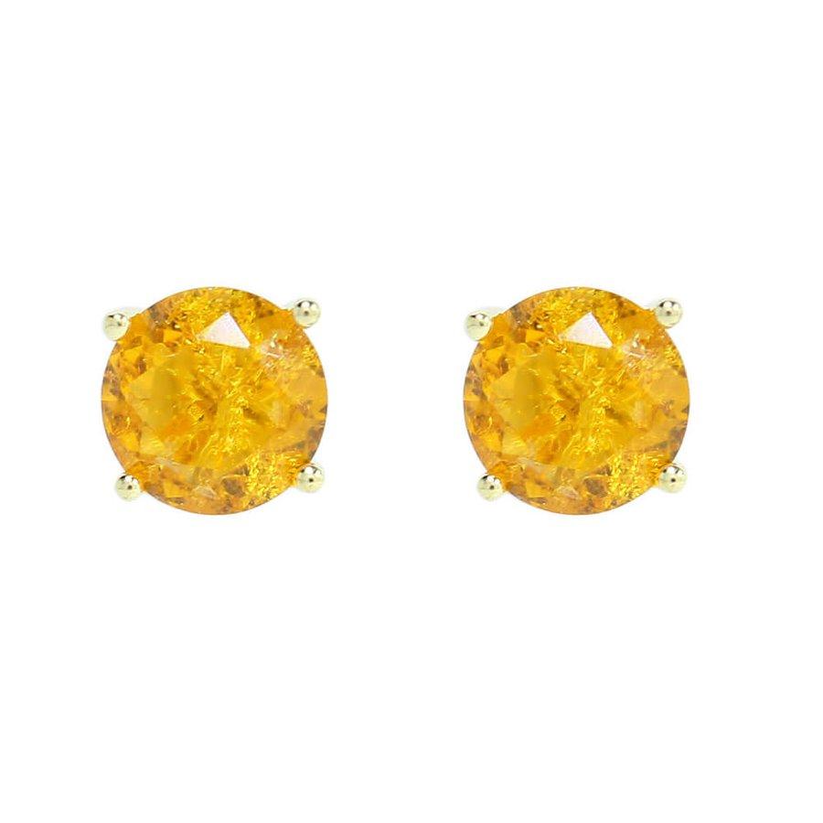 Brinco Mini Pedra Fusion Hadassa Dourado Champanhe