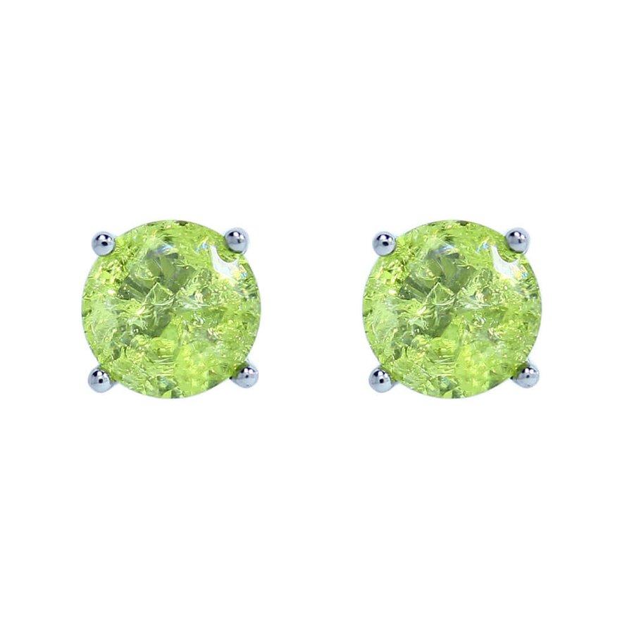 Brinco Mini Pedra Fusion Hadassa Grafite Verde