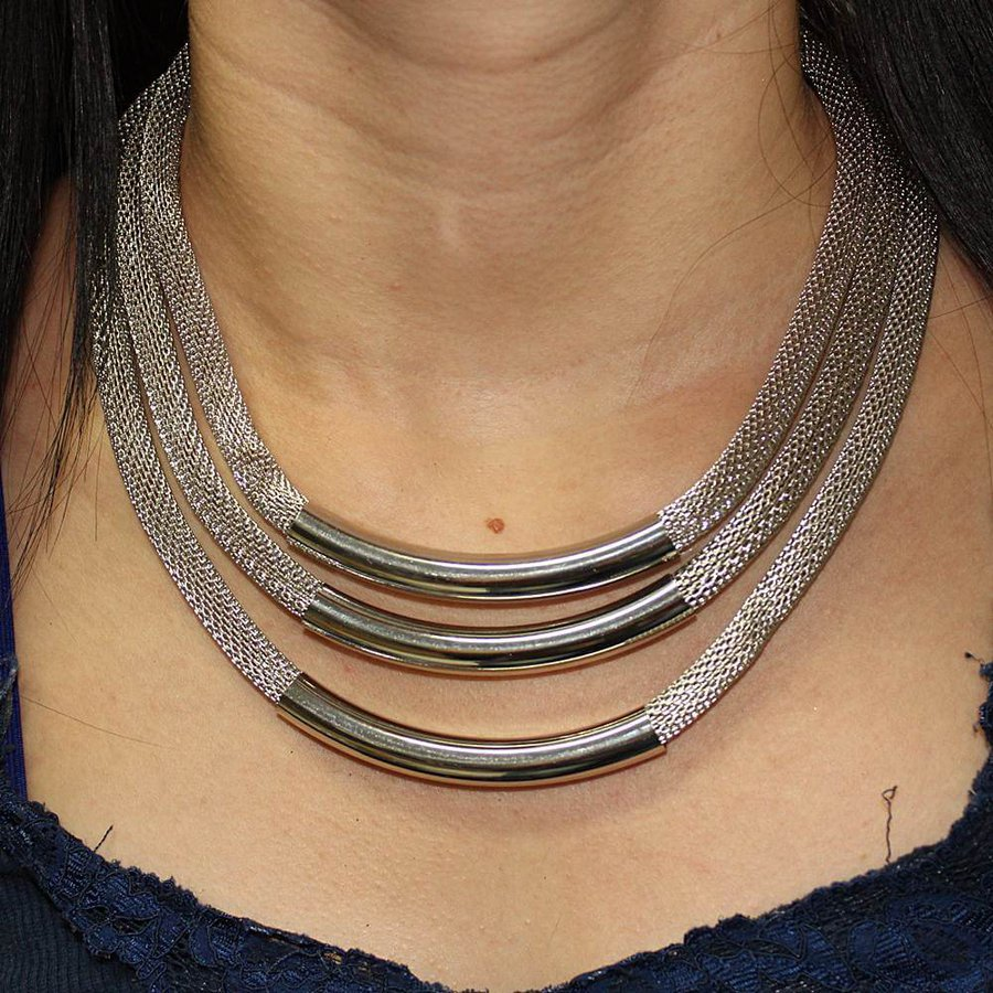Colar Metal Isabeli Prata *