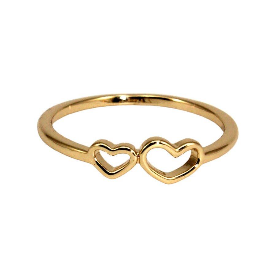 Anel Coração Iara Dourado *