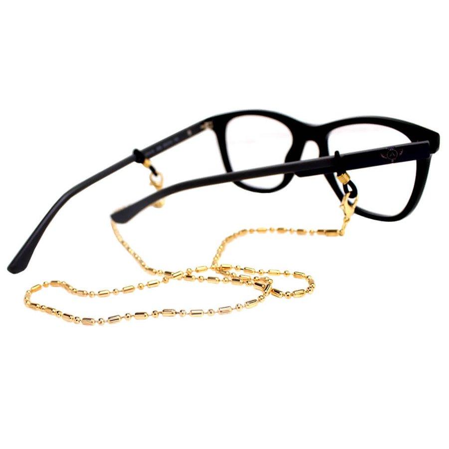 Cordão para Óculos Correntinha Fina Dourado