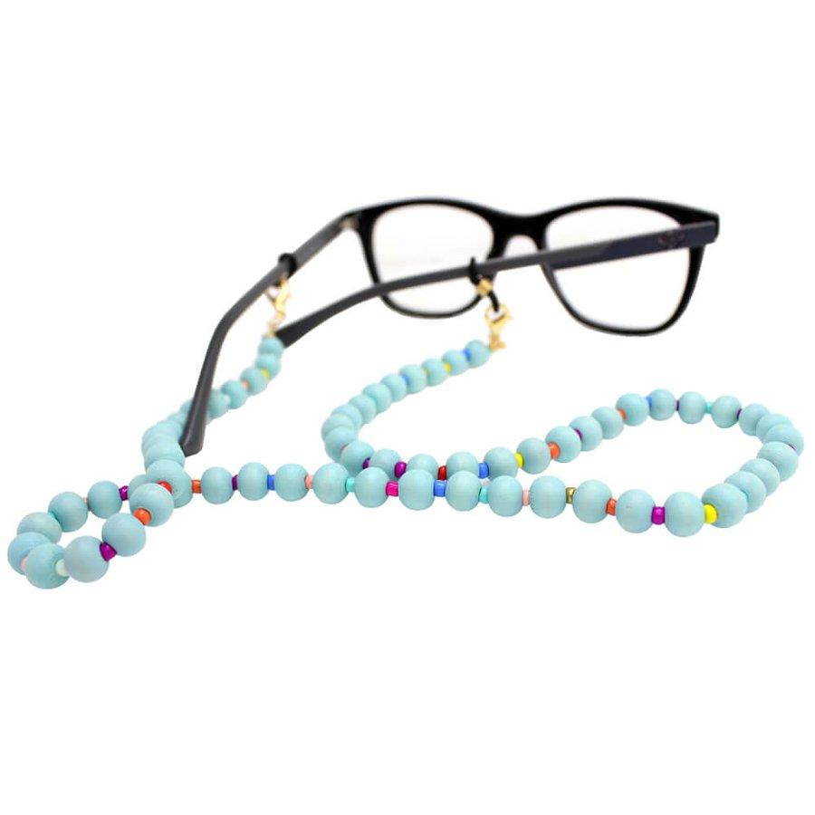 Cordão para Óculos Bolinhas Colors Azul Claro