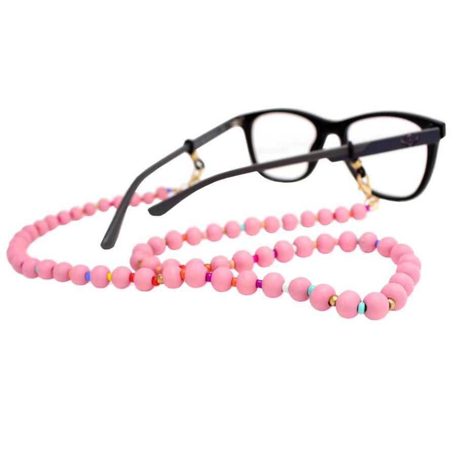 Cordão para Óculos Bolinhas Colors Rosa