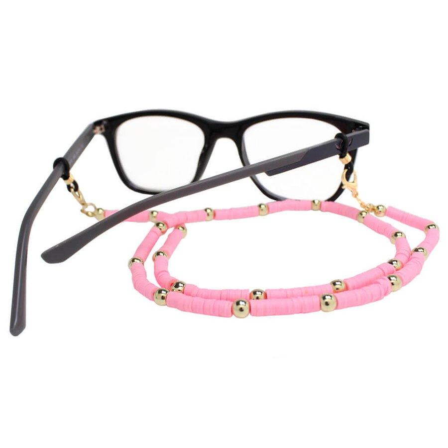 Cordão para Óculos Borrachinhas Rosa