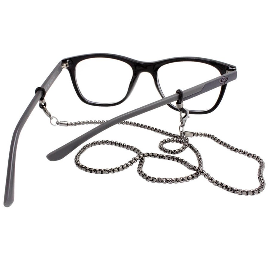 Cordão para Óculos Corrente Fina Grafite