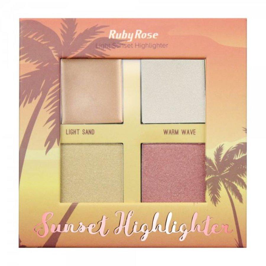 Paleta Light Sunset Highlighter Ruby Rose