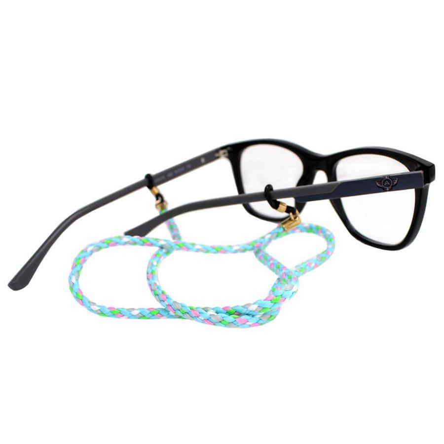 Cordão para Óculos Nó Trançado Azul Claro