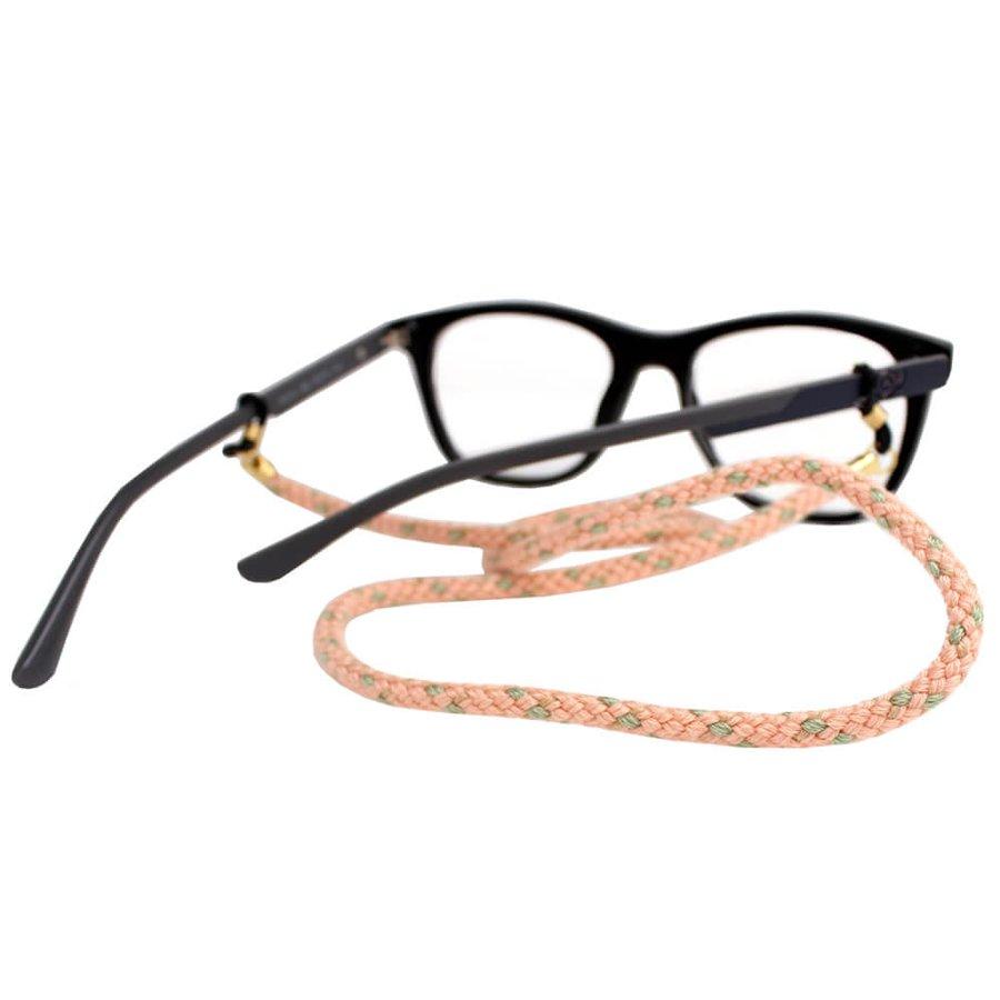 Cordão para Óculos Nó Trançado Rosa Claro