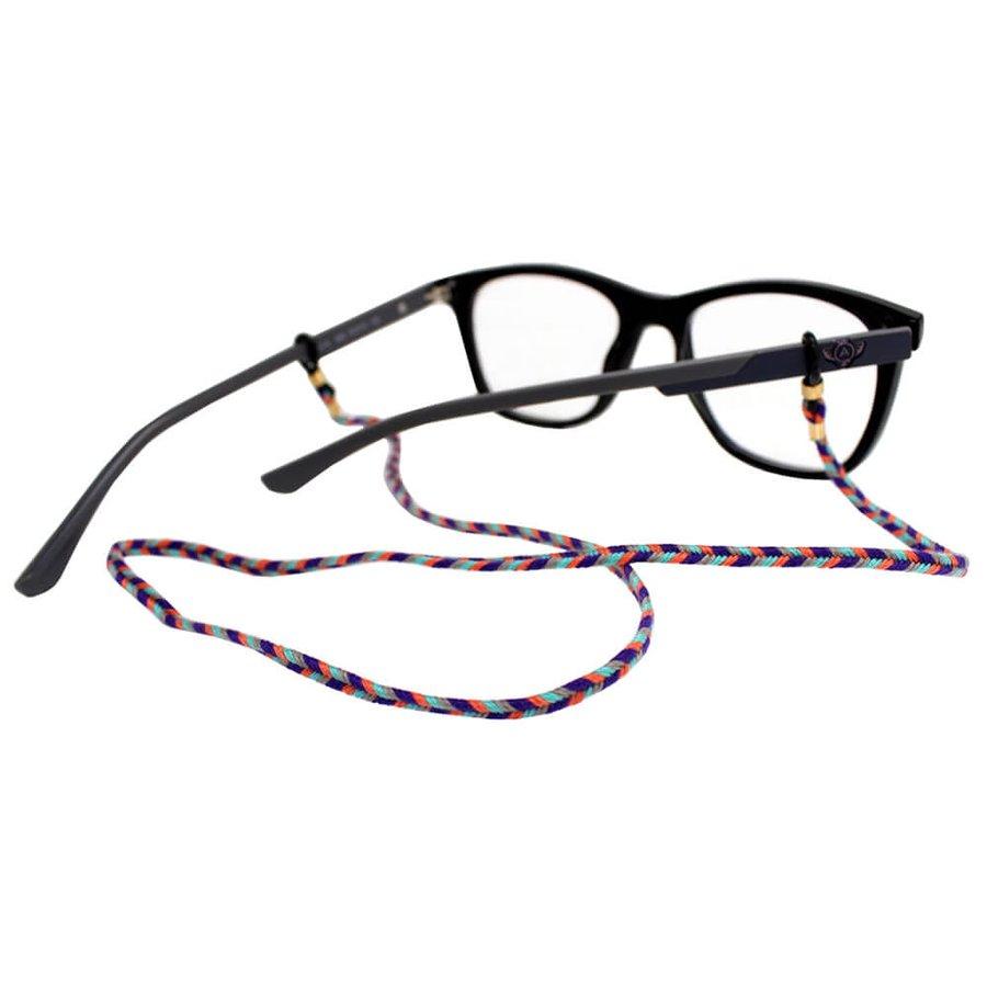 Cordão para Óculos Trancinha Bem Fina Laranja Roxo