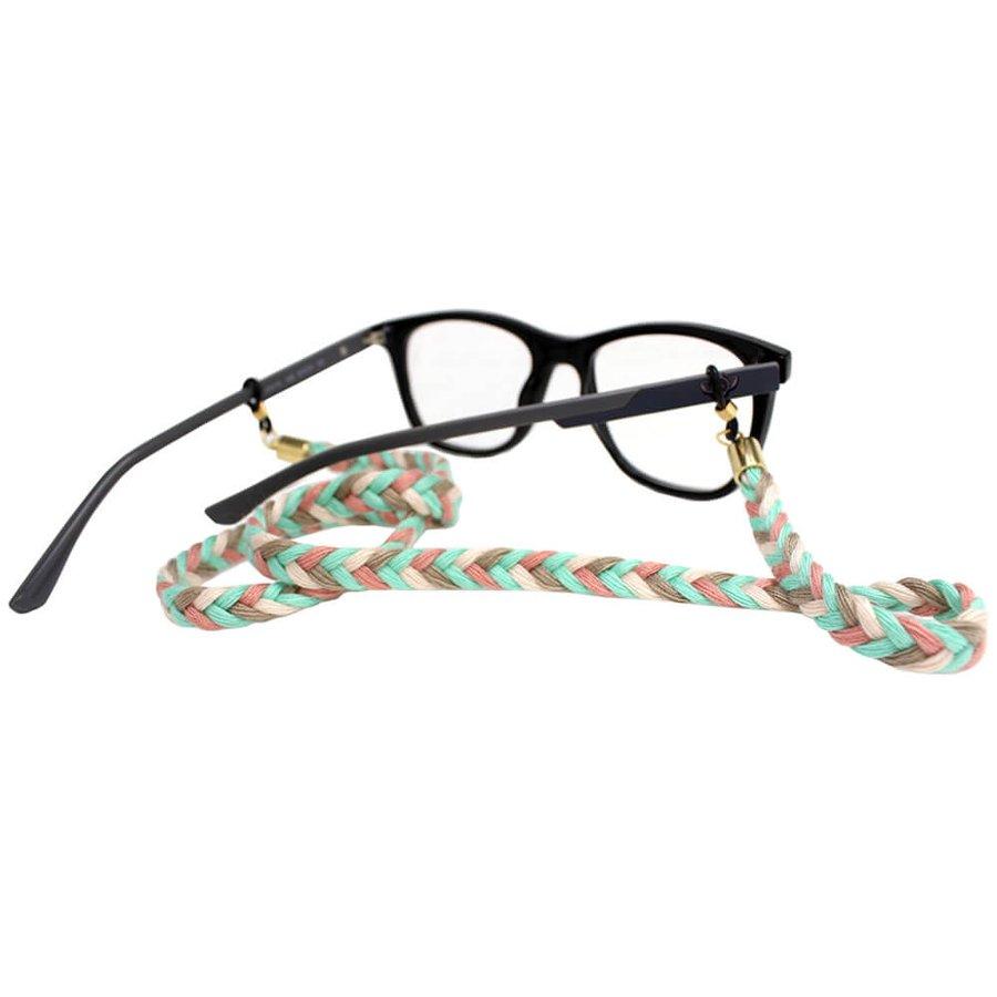 Cordão para Óculos Trancinha Acqua Branco