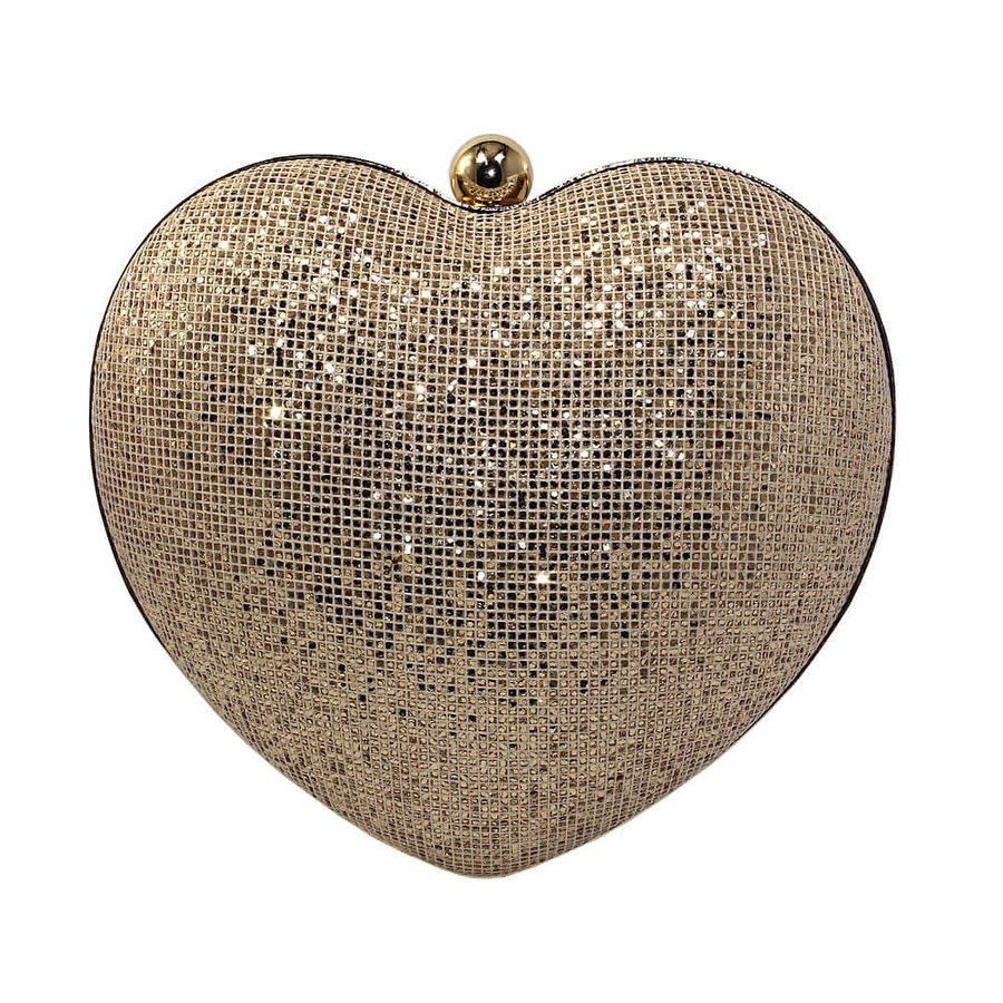 Bolsa Clutch Lanver Dourada Clara