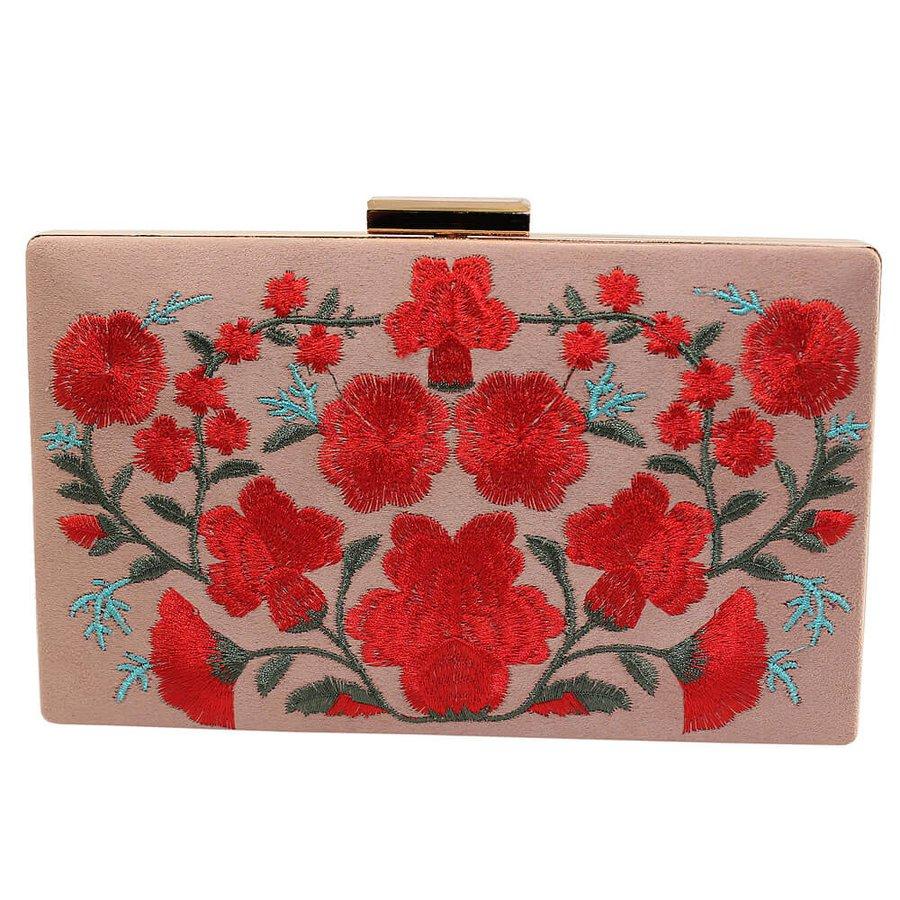 Bolsa Clutch Chicago Flores Rosê