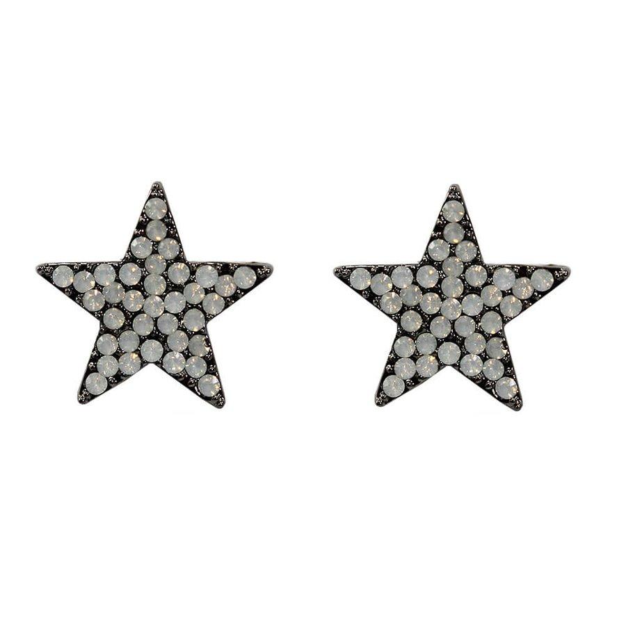 Brinco Estrela Cuba Grafite Branco Leitoso